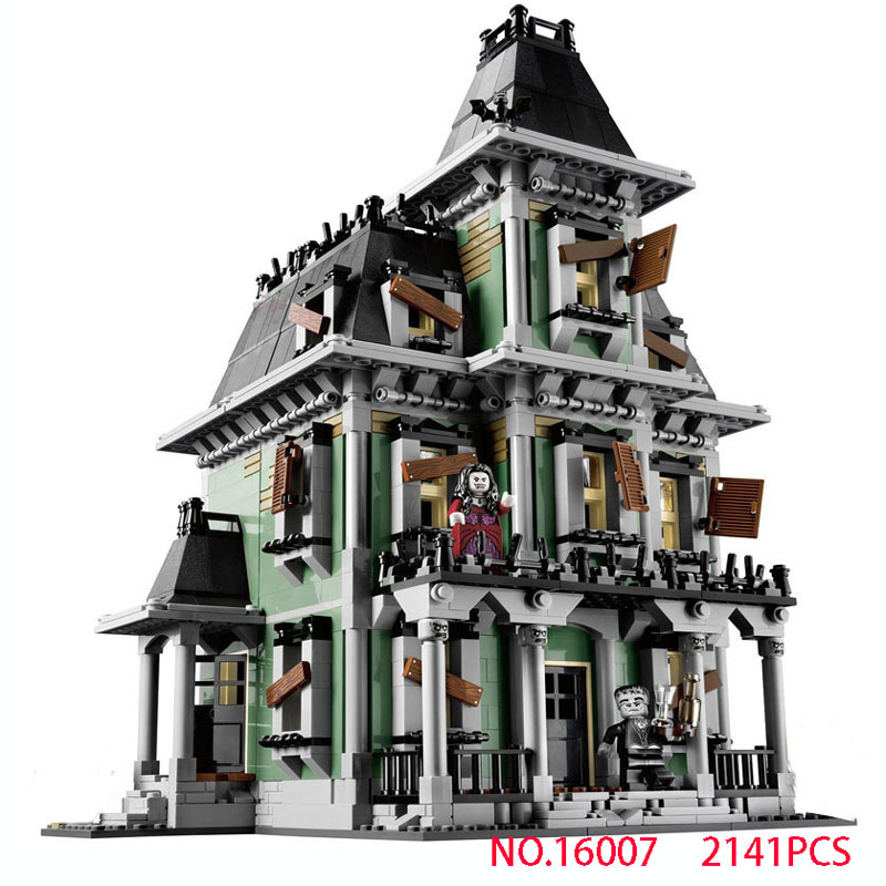 2141Pcs Monster fighter The haunted house Model set Building Kits Model Compatible With 10228 for boys Christmas birthday gift the monster next door