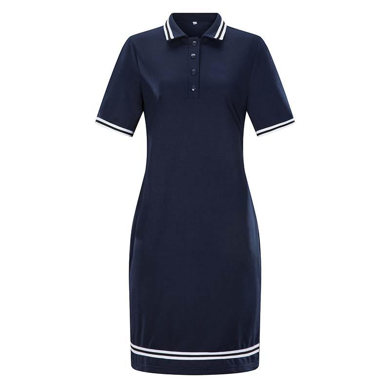 Summer Women Polo Dress L-6XL Fashion Short Sleeve Stripe Bodycon Mini Pencil Dresses Female Elegant Casual Dress Vestidos