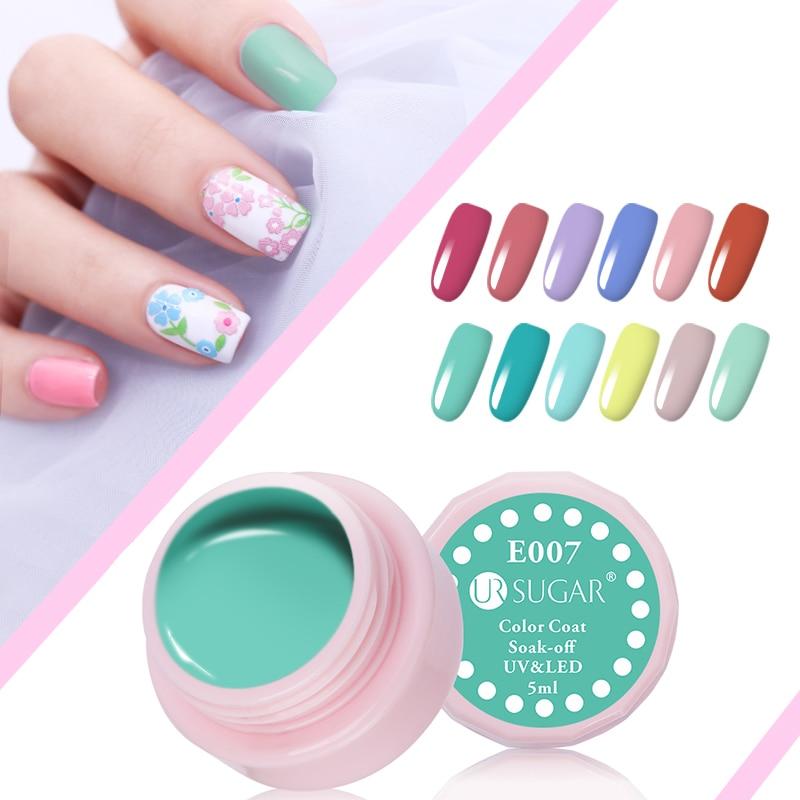 UR SUGAR 5мл Macaron Soak Off UV Гель 110 Pure Colors Effect - Маникюр - фото 3