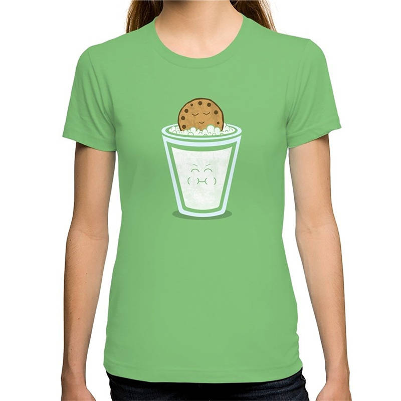 Cheap Sale 100% Cotton Short O-Neck Fashion 2018 Womens Hot Tub Cookie Tee Shirts