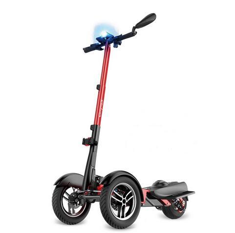 2018 800 W trois roues hors route Scooter électrique pliant tout terrain Skateboard pliable e-scooter avec siège batterie amovible