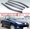 Для Peugeot 206 2010 + пластиковый Наружный козырек Vent Shades Window Sun Rain Guard дефлектор 4 шт