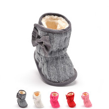 2016 Winter Warm First Walkers Baby Ankle Snow Boots Infant Baby Cotton Shoes for Boys Girls