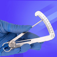 Triangle Caliper Mechanic Measuring Tools Thickness Autoclavable Surgical Stainless Steel Dental Ruler Inner Crown Gauge Metal