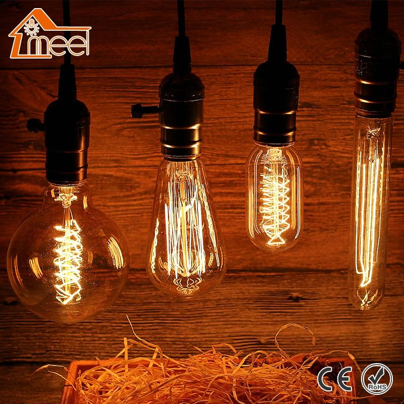 Retro Lamp LED E27 Vintage Edison Filament Light 220V Incandescent Bulb Light Antique Tungsten Lamp Bombillas Warm White engine spare parts flame out solenoid 17208 60016fuel shut off stop solenoid fits v1505 v1305