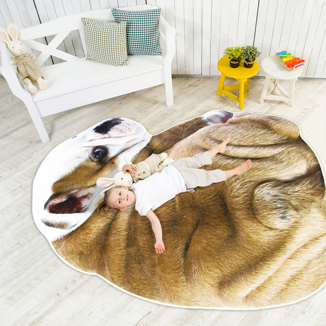 Winlife Cute Animals Shaped Carpets Large Area Rugs For Kids Room Baby Crawling Mats Home