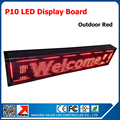 "41"" x 9""  Led display outdoor programmable scrolling message led sign board for business p10 red led sign"