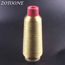 ZOTOONE Metallic Gold Embroidery Thread Wholesale For Jeans Clothes DIY Handmade Sewing Polyester Supplies
