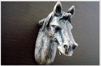 New 5pcs/lot Design Horse Head European Classical Cabinet Wardrobe Pull handle and knob