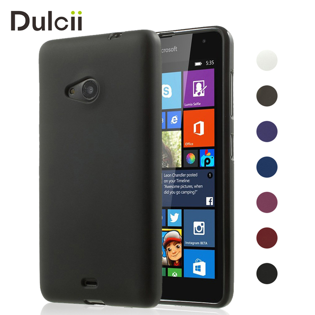 best sneakers 4069d 3ccc3 US $1.59 |Dulcii For Nokia 535 Cover Matte TPU Back Gel Case for Microsoft  Lumia 535 535 Dual SIM Mobile Phone Funda Coque Shell Capa Case-in ...