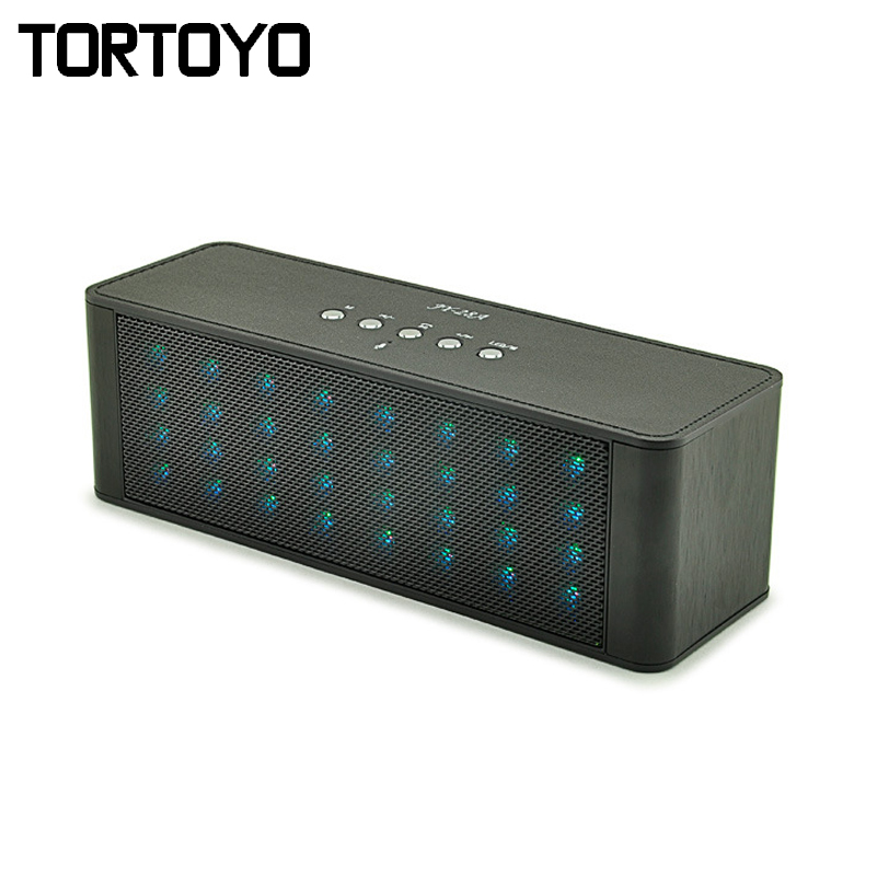 JY-24A Colorful Wireless Bluetooth Speaker LED Light Stereo Bass USB 3D Subwoofer with TF Card FM Aux Loudspeaker for PC Phone
