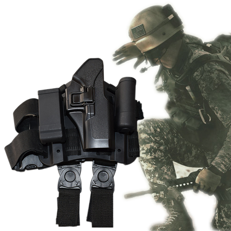 Black / Green / Tan Military Equipment Tactical Glock Gun Holster Airsoft Hunting Leg Holster Fit For Glock 17 19 22 23 31 32