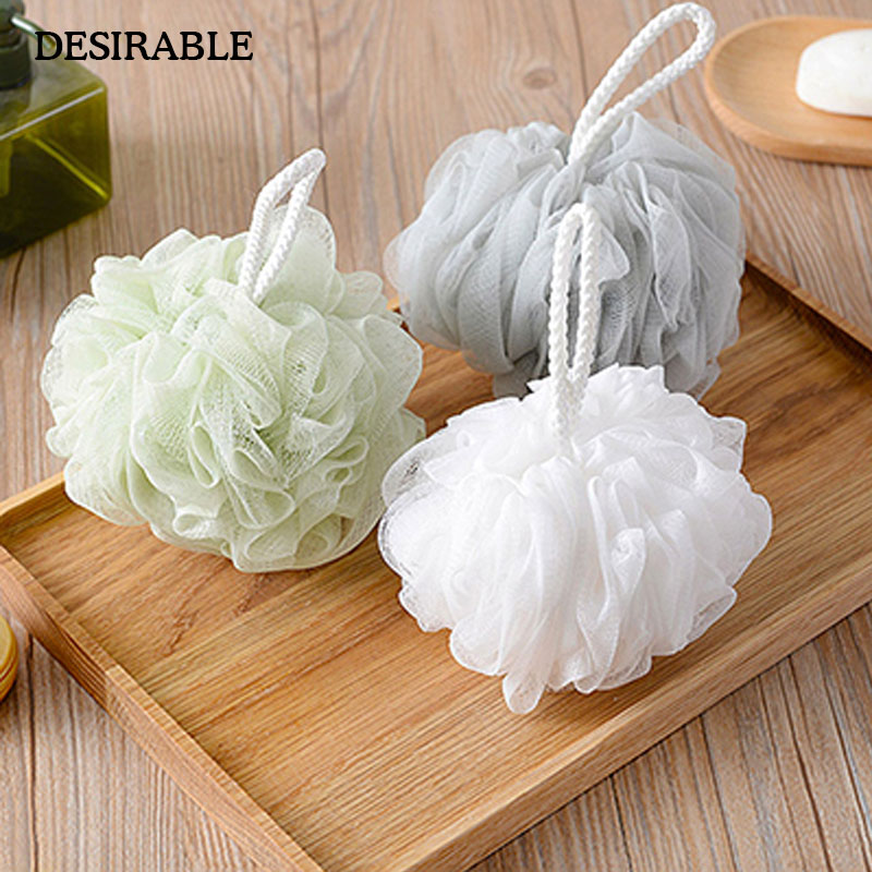 100% True 4pcs Bath Ball Large Comfortable Double Color Shower Ball Mesh Sponge Body Cleaning Ball Mesh Pouf For Shower Bath Up-To-Date Styling Bath & Shower