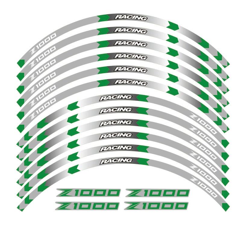 adesivos refletores para roda motocicleta kawasaki z1000 17 polegadas 04