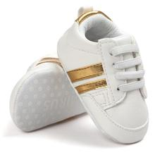 Hot sell baby moccasins infant anti-slip PU Leather first walker sneaker soft so