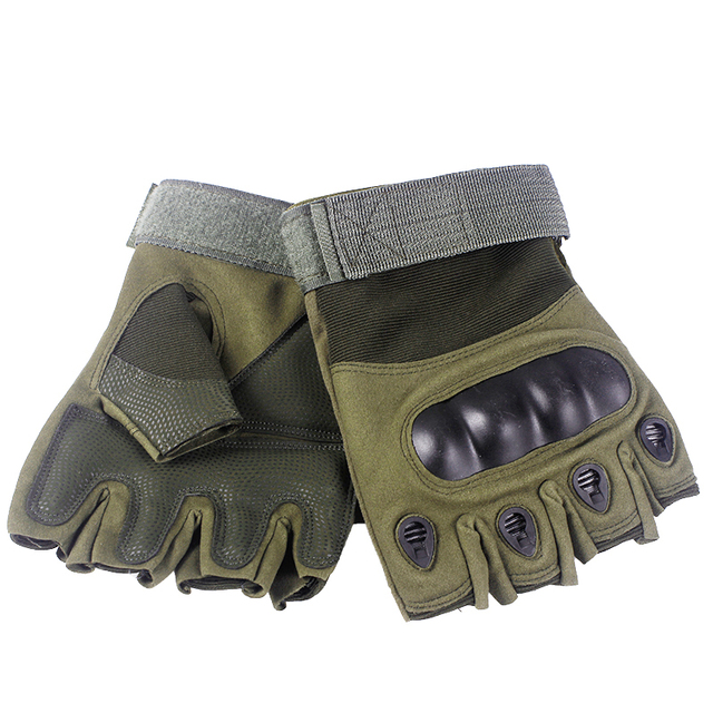 Tactical Fingerless Gloves Military Army Shooting Paintball Airsoft Bicycle Motorcross Combat Hard Knuckle Half Finger Gloves 4