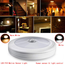 Battery Power Sensor 5LED Night Light Magnetic Infrared PIR Motion Sensor Wireless Mini LED Light Lamp