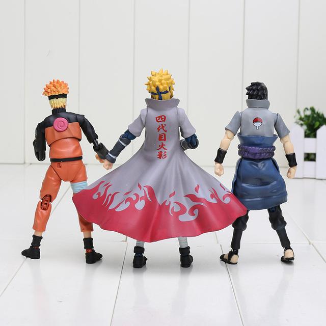 Naruto Figure SHF Figuarts Sasuke Naruto Namikaze Minato Collectible Action Figures Susuke Figurine
