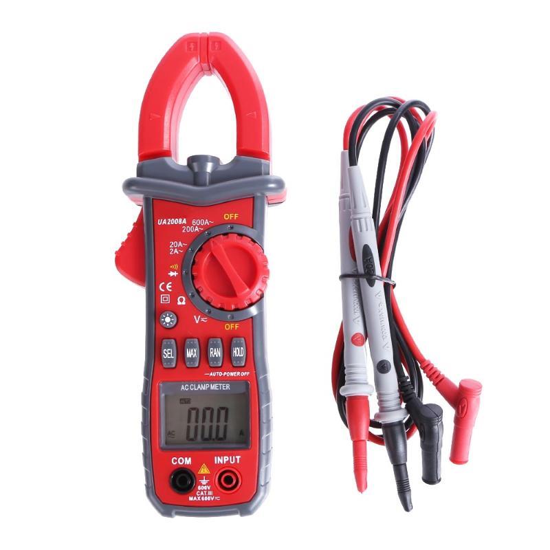 Clamp Meters Digital Auto Range Clamp Meter Ammeter Voltmeter Ohmmeter LCD Backlight Current Voltage Tester