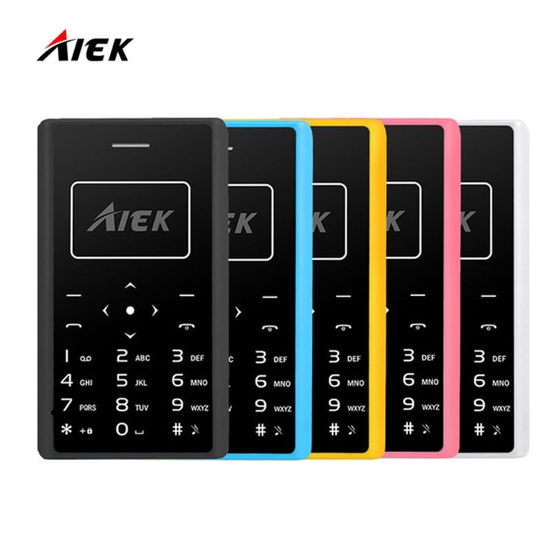 Ultra Thin Card Mobile Phone 4.8mm AIEK X7 Low Radiation Card CellPhone Multi Language