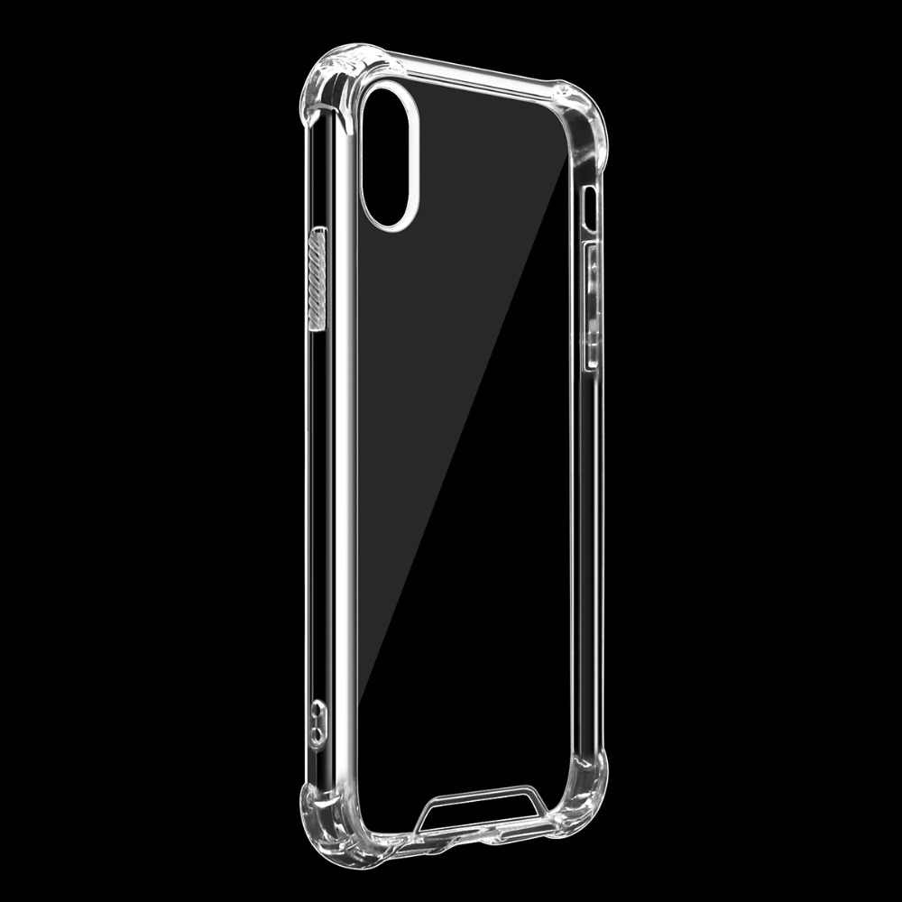 Anti-knock Fundas For iPhone X Case For iphone 6s 7 8 plus X XS MAX XR full Protect Rubber Case Transparent Silicone Coque Case