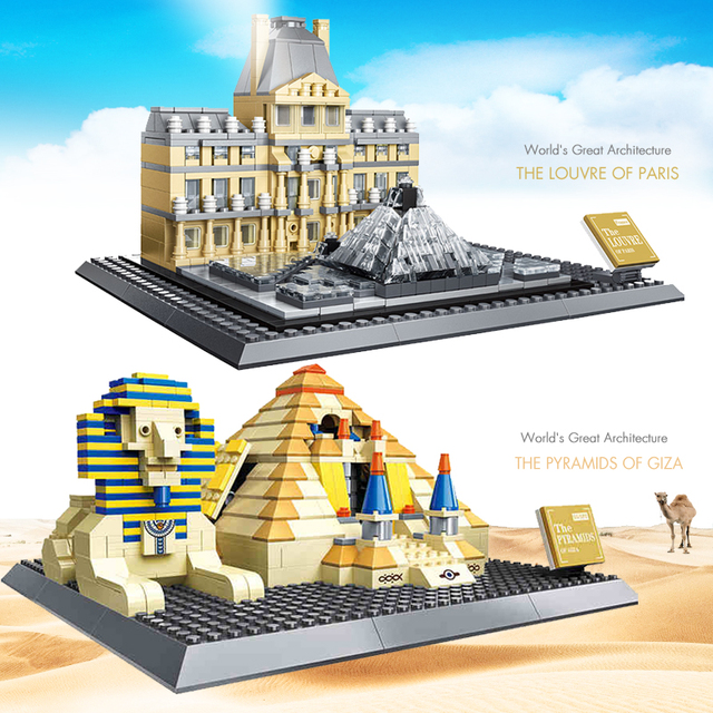 Great Architecture Buildings aliexpress : buy world great architecture building toys blocks