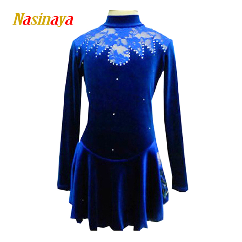 Customized Costume Ice Figure Skating Gymnastics Dress Competition Adult Child Girl Skirt Performance Rhinestones 22 customized costume ice figure skating gymnastics dress competition adult child girl pink skirt performance fold off shoulder