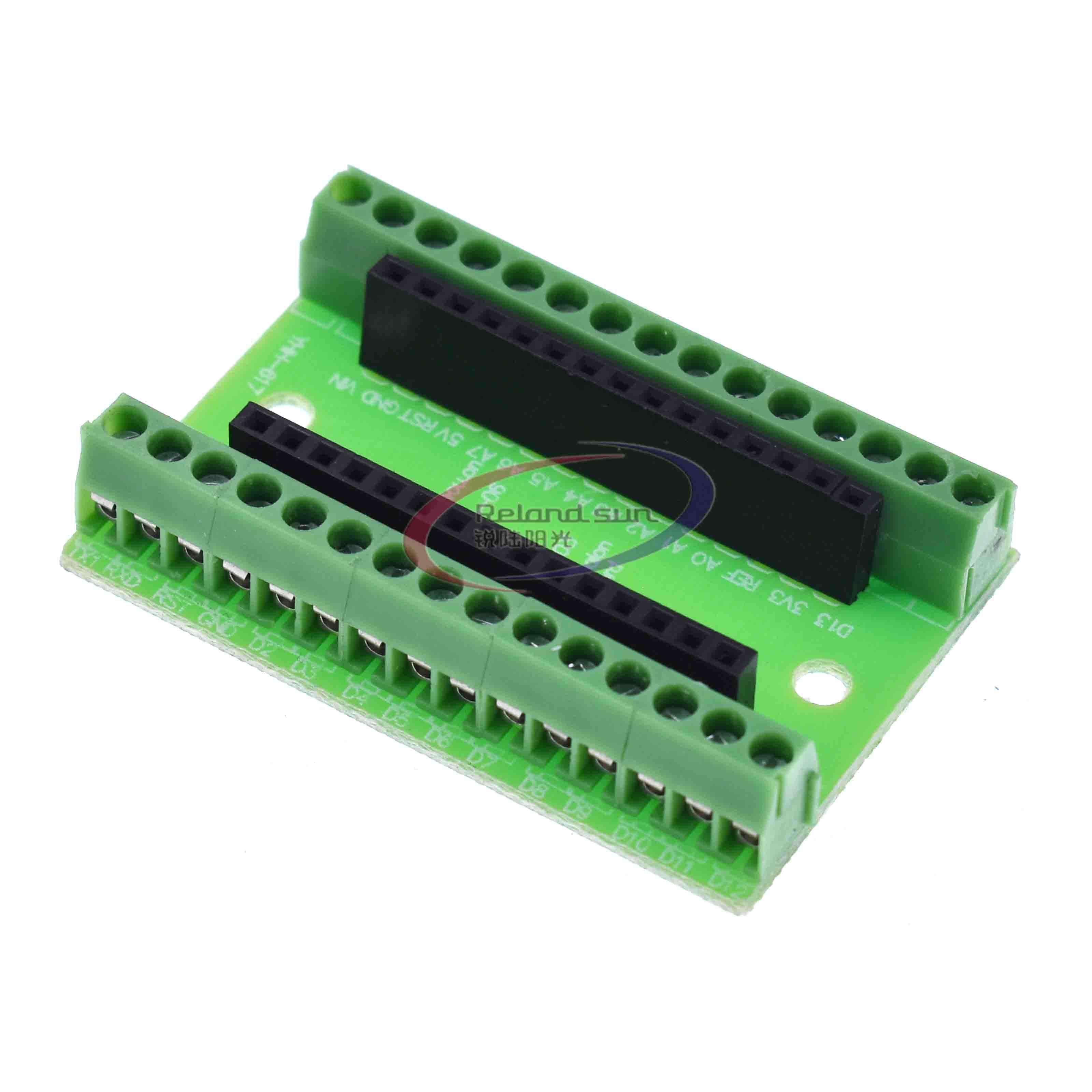 NANO V3.0 3.0 Controller Terminal Adapter Scheda di Espansione ATMEGA328P NANO IO Shield Semplice Piastra di Estensione Per Arduino AVR