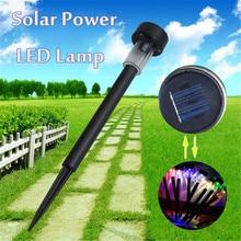 Solar LED Power Outdoor PathWay Fence Light Spot Lamp Yard Garden Lawn