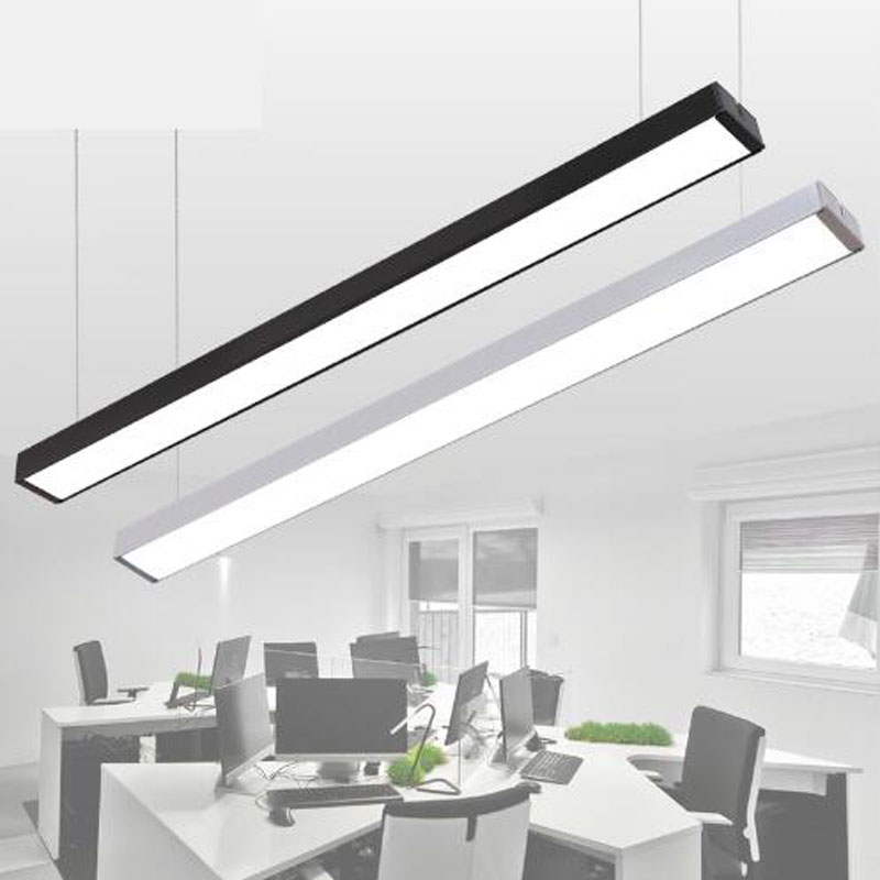 Us 9 0 50 Off Can Be Sching Led Right Angle Chandelier Long Bar Lights Office Lighting Simple Modern Aluminum Fluorescent Lamp In