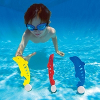 Boy Girl Swim Toys DivingTraining Dolphin Shape Swimming Pool Water Toys 3pc/set