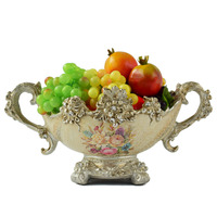 Europe Resin artware fruit dish flowers vase for home wedding dining table decoration