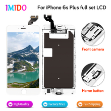 цена на 5Pcs Full Set LCD For iPhone 6S plus LCD Display Home button+Front camera+3D touch Touch Screen Digitizer Assembly DHL shipping