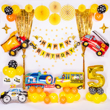 Construction Vehicle Birthday Party Decoration Boys Banner Bunting For Kids Decor Favors