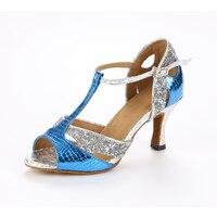 Sexy High Heel Woman Sequins Latin Dance Shoes Zapatos De Baile Salsa Latina Women Ballroom Salsa