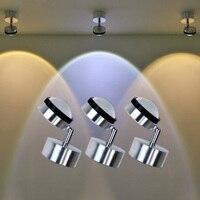 New 3W Modern LED Wall Light AC85 265V For Home Bathroom Bedroom Surface Mounted Led Wall lamp Led Spot light For Home/KTV/bar