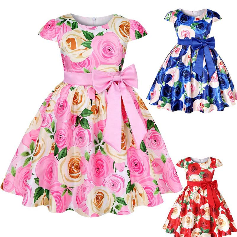 Flower Girl Peal Princess Dress Girls Baby Party Wedding Bridesmaid Gown ZG9