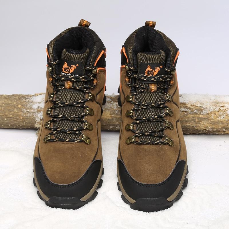 Men Hiking Shoes Tourism Waterproof Brown Sneakers Men Outdoor Trekking Shoe Climbing Hunting Boots Zapatillas Hombre Deportiva