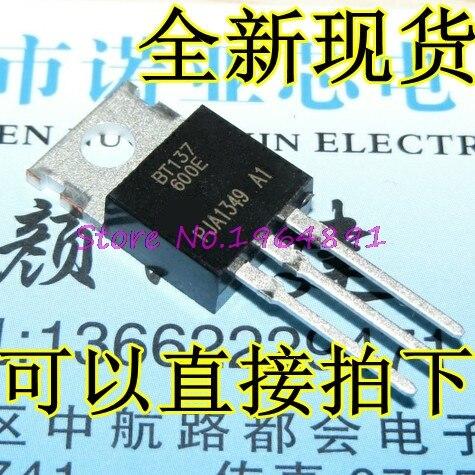 10pcs/lot BT137-600E BT137-600 BT137 TO-220 8A 600V In Stock