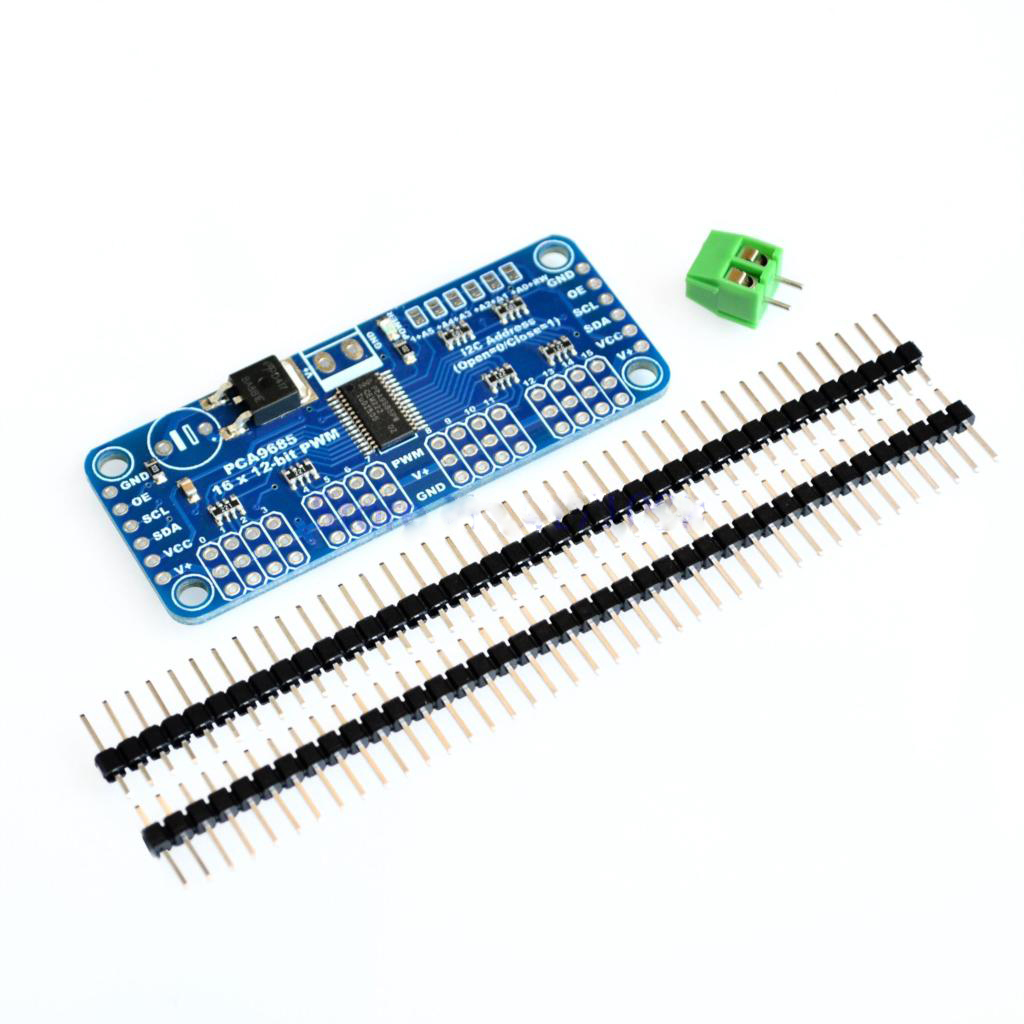 16 Channel 12-bit PWM/Servo Driver-I2C interface-PCA9685 for Raspberry pi shield module servo shield