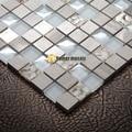 Кристальное стекло  смешанный камень  мозаика  естественные ракушки EHGM1075 для ванной и кухни  бесплатная доставка
