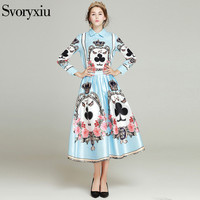 SVORYXIU 2017 Autumn Brand Suit Set Women S Elegant Two Piece Long Sleeves Printed Blouse Sweet