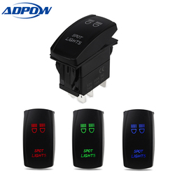 ADPOW Car Switch Boat Truck Light Led Toggle Switch 5pin Waterproof Bar Style Car Toggle Rocker Switch 12V