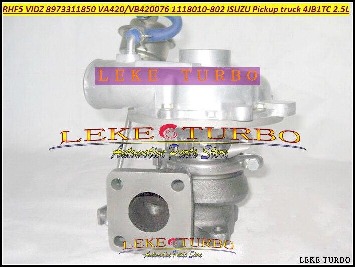 RHF5 VIDZ 8973311850 VA420076 VB420076 1118010-802 Turbo For ISUZU Trooper Rodeo Pickup truck 4JB1TC 4JB1-TC 4JB1 4JB1T 2.8L