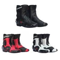 Motorcycle Racing Boots Moto Riding Boots Protective Gear Waterproof Leather Shoes Motorbike Motocross Shoes botas Dropshipping