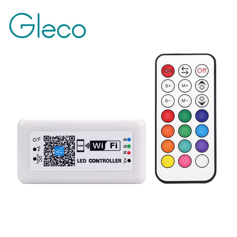 DC12-24V LED RGB Controller WIFI per Smartphone ios Android 21Key RF Telecomando Senza Fili Per 5050 RGB LED Light Strip