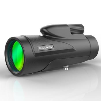 SUNCORE Jacht Militaire Toerisme HD 12X50 Monoculaire Professionele Hoge Kwaliteit Telescoop Zoom Vision Lichtgewicht Compact Black