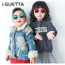 IGUETTA детские солнцезащитные очки мальчики девочки Роскошные винтажные детские солнцезащитные очки круглые солнцезащитные очки Oculos Feminino аксессуары IYJA586