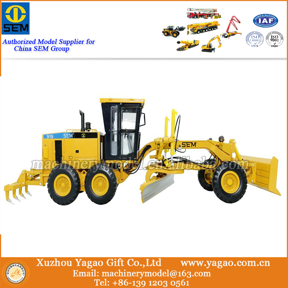 1:35 Scale Model, Diecast, Construction Model, SEM919 Grader Model, Zinc Alloy Replica, Collection