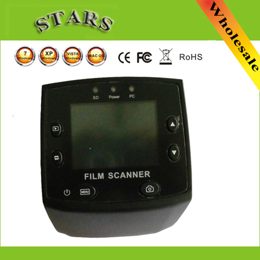 5MP 35mm USB Negative Film Slide Viewer Scanner 2.4LCD Digital Color Photo Film Converter Slide Scanner ,free shipping dental x ray film reader viewer digitizer scanner usb 2 0 m 95 super cam